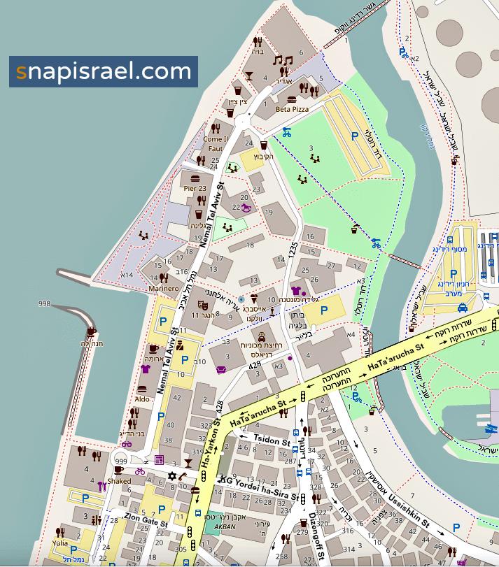 Namal Port Tel Aviv Map
